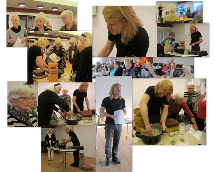 Ege Arp-Hansen holdeEge Arp-Hansen holder foredrag, maler fuldkornsmel på en stenkværn og viser hvordan man laver surdejsbrød.r foredrag, maler på en stenkværn og demonstrerer hvordan man laver surdejsbrød.